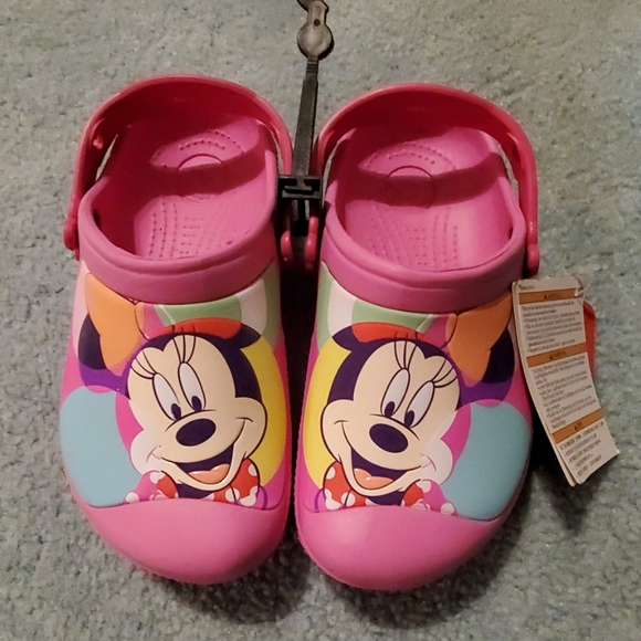 CROCS Other - New!!! Girl's Minnie Mouse Crocs